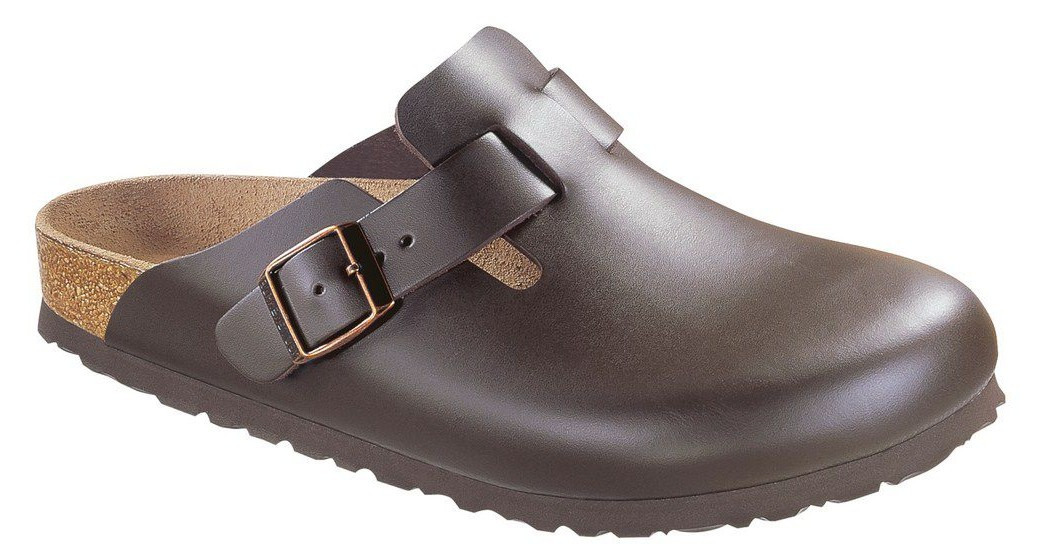 Birkenstock Boston dark brown leather in 2 widths