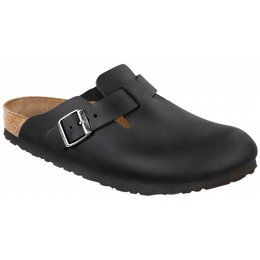 Birkenstock Boston oiled black leather, in 2 widths