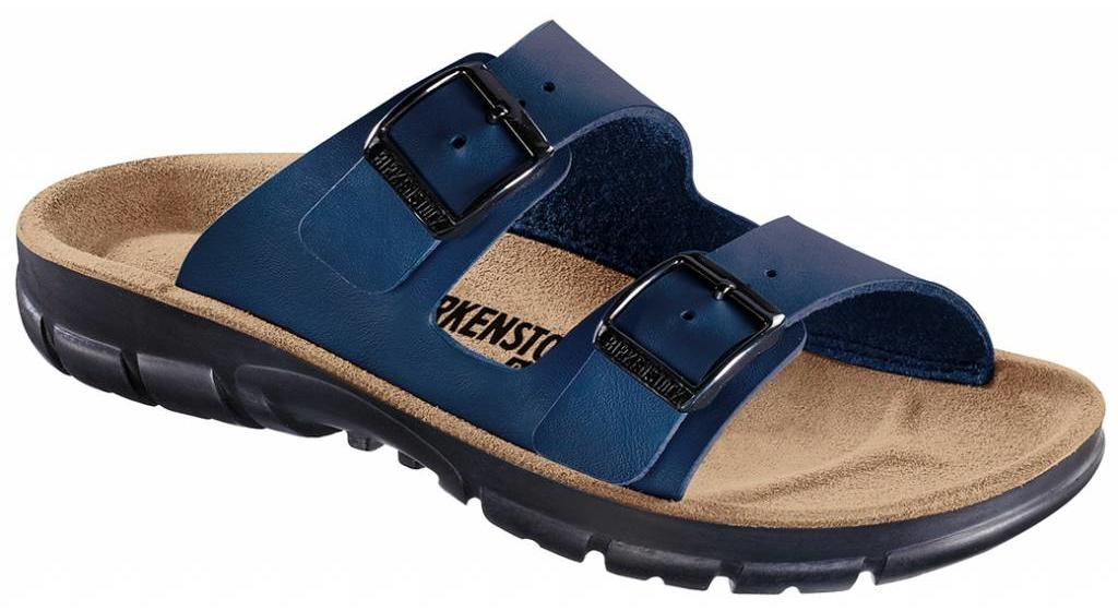 Birkenstock Bilbao blue with flexible sole, in 2 widths