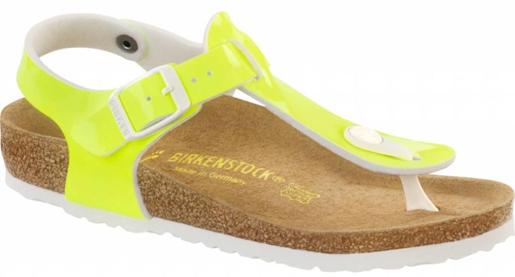 Birkenstock Kairo kids neon yellow patent