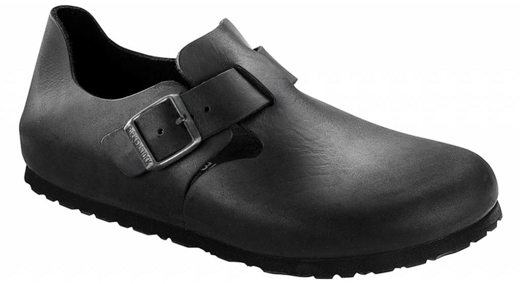 Birkenstock London zwart geolied leer
