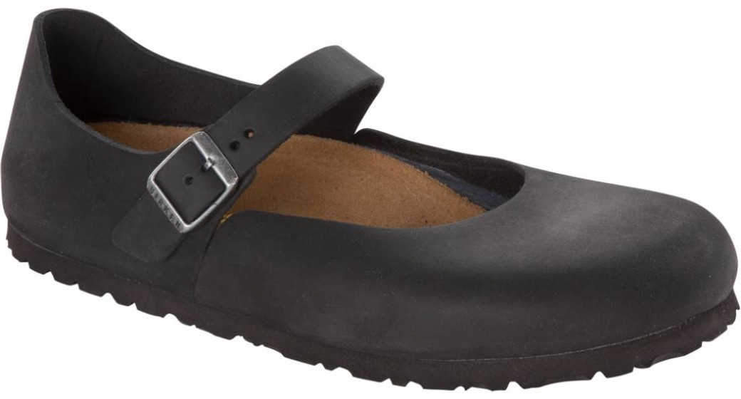 Birkenstock Mantova women black oiled leather