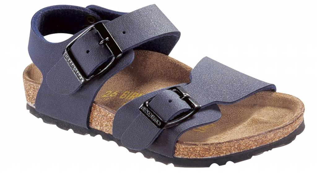 Birkenstock New york kids nubuck blauw
