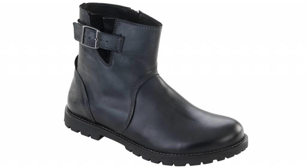 Birkenstock Stowe women black leather in 2 widths