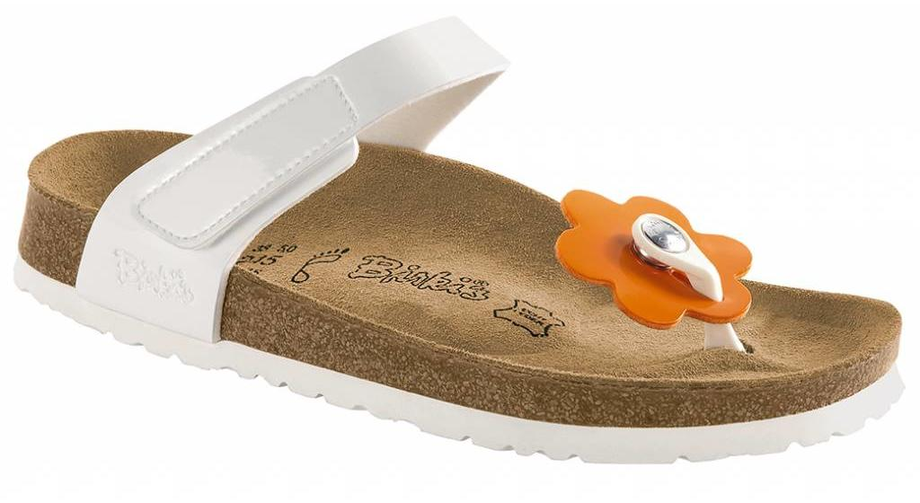 Birkenstock Tofino kids flowers white patent mix