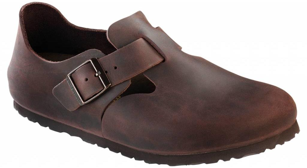 Birkenstock London habana leather in 2 widths