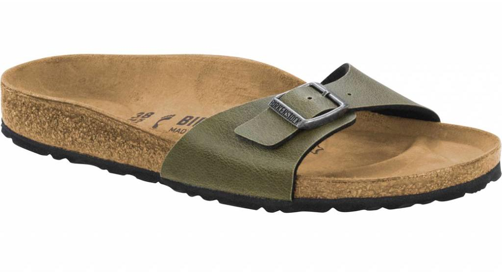 Birkenstock Madrid pull up olive in 2 breedtes