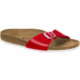 Birkenstock Madrid red patent