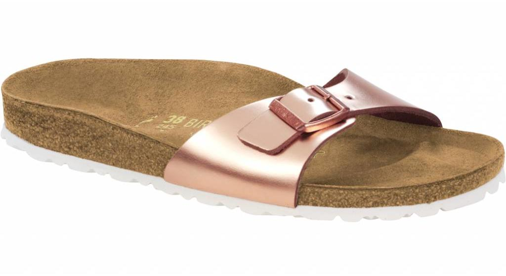 Birkenstock Madrid metallic copper leer