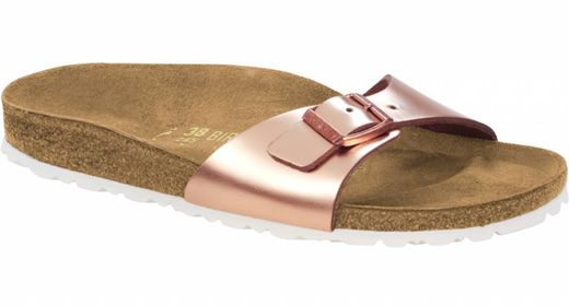 Birkenstock Birkenstock Madrid metallic copper leather