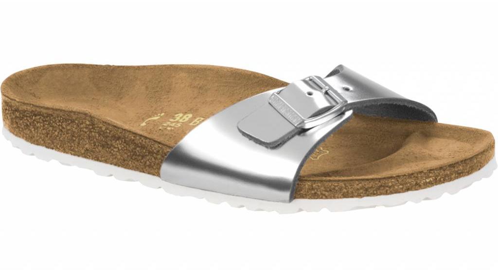 Birkenstock Madrid metallic zilver