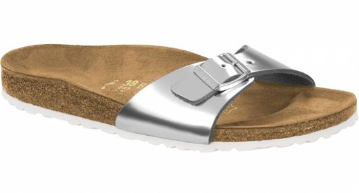 Birkenstock Birkenstock Madrid metallic silver leather