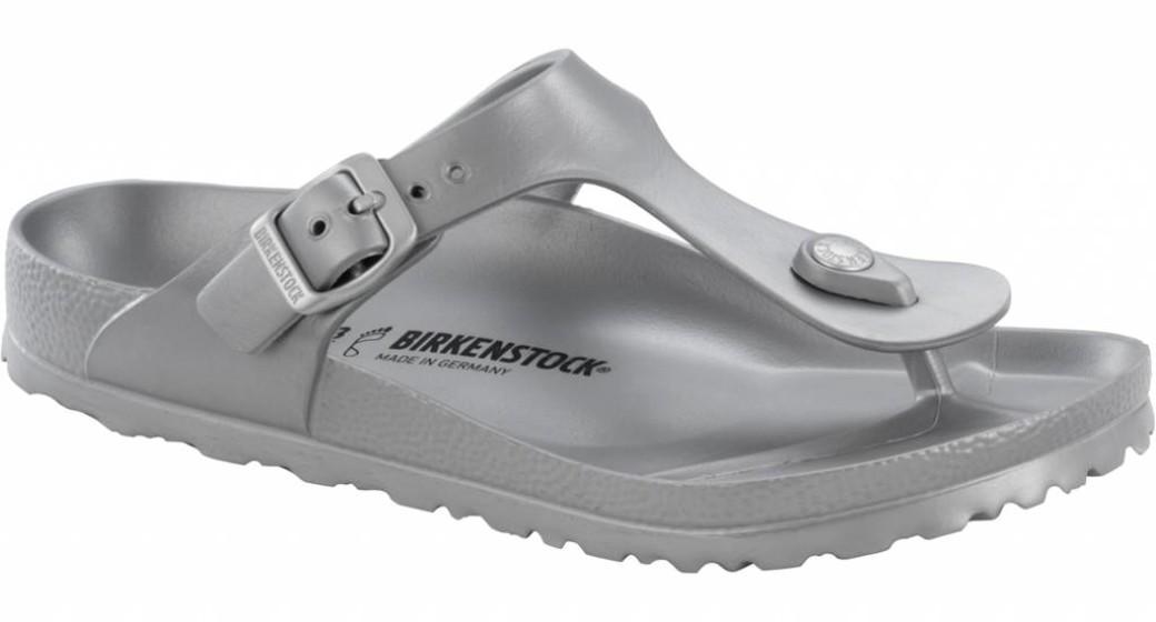Birkenstock Gizeh eva metallic zilver