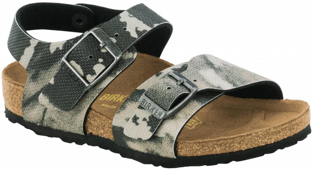 Birkenstock New york kids camo gray