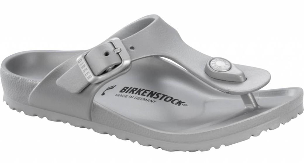 Birkenstock Gizeh kids eva metallic zilver