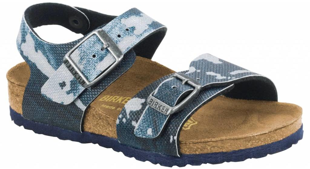 Birkenstock New york kids camo blue
