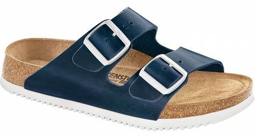 Birkenstock Birkenstock Arizona blue oiled leather in 2 widths with anti-slide sole