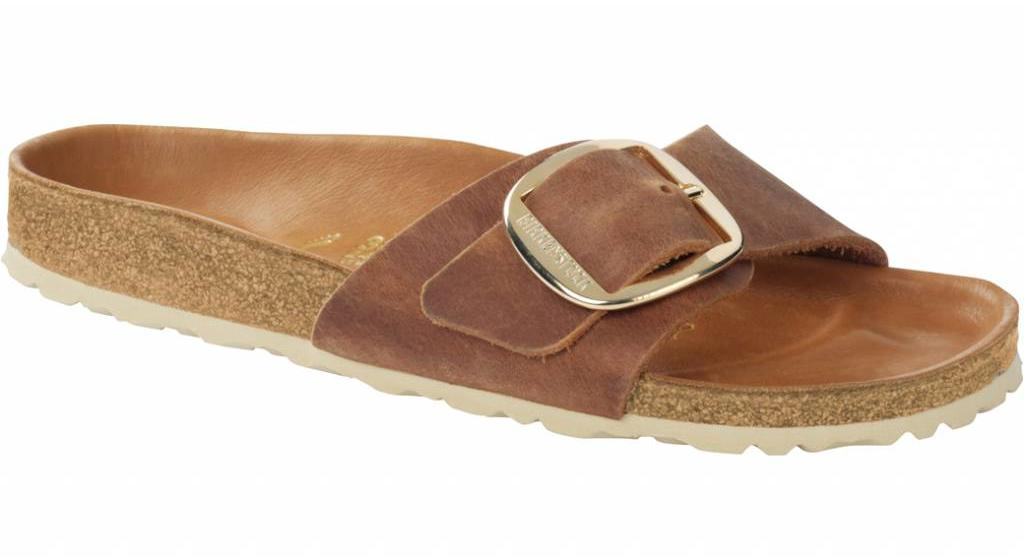 Birkenstock Madrid big buckle cognac antique leather