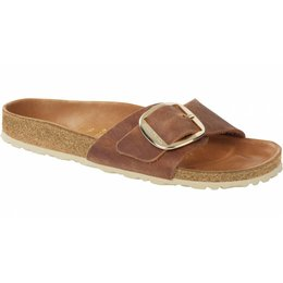 Birkenstock Madrid big buckle cognac antiek leer