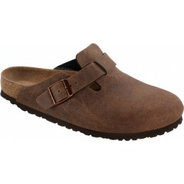 Birkenstock Boston vegan cacao bruin in 2 breedtes