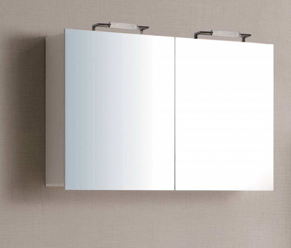 sem niagara spiegelkast 120x70x15cm hoogglans wit badkamer co. Black Bedroom Furniture Sets. Home Design Ideas