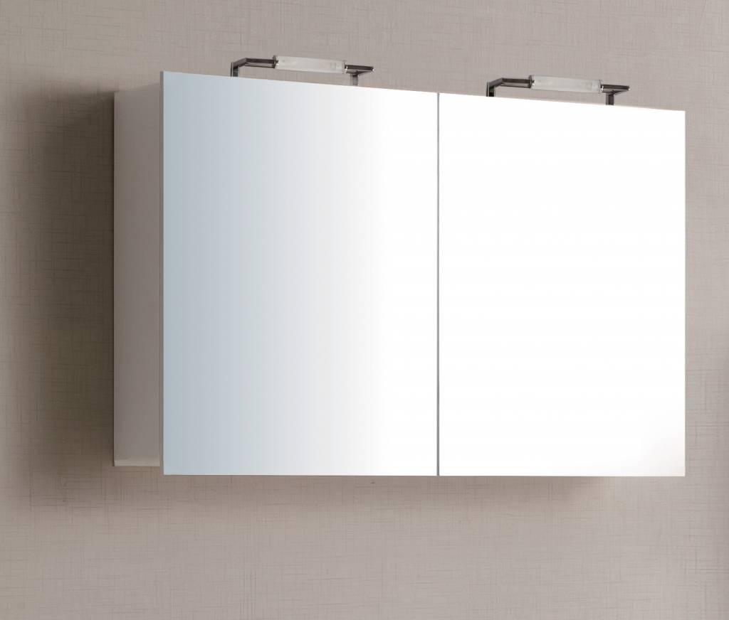 Sem niagara spiegelkast 100x70x15cm hoogglans wit badkamer co - Badkamer badplaats ...