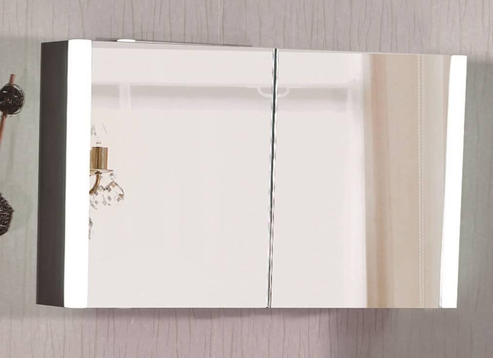 Sem Bellagio spiegelkast met LED 100x16x60cm dark oak - Badkamer & Co