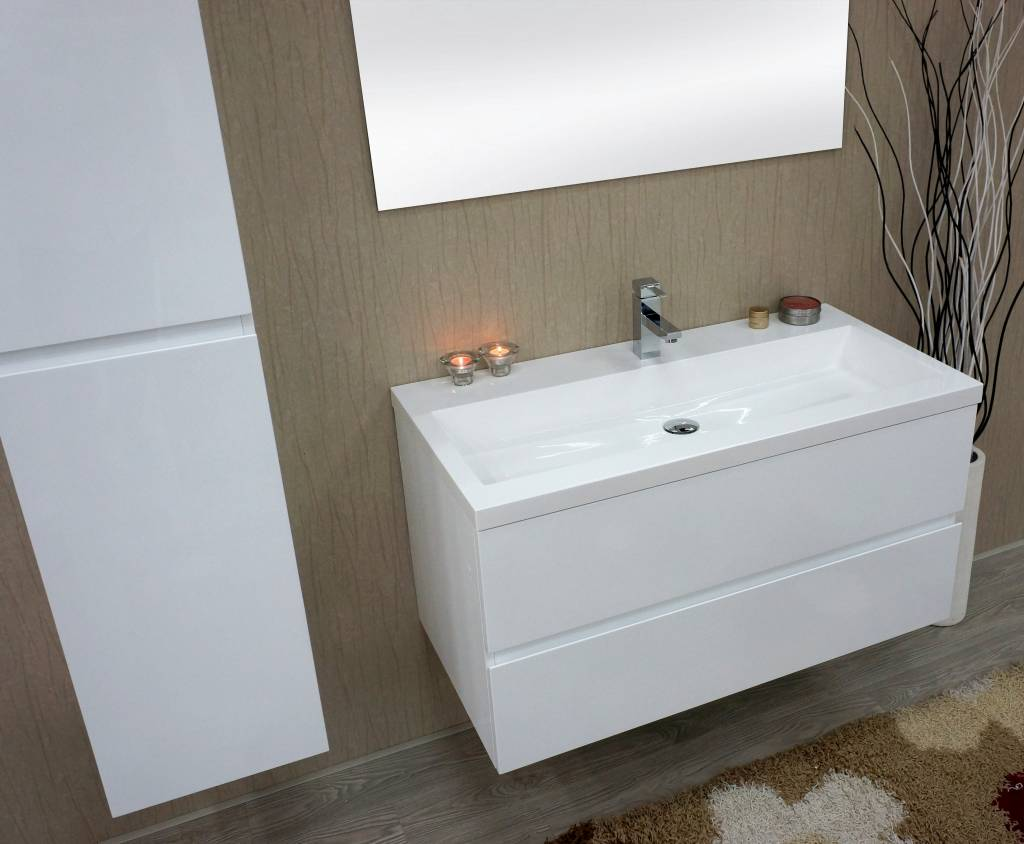 badkamermeubel hoogglans wit 100 cm loungeset 2017