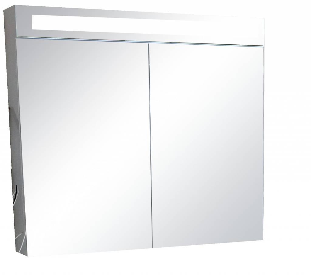 Sem Jura spiegelkast 90x80x15cm dark oak inclusief LED toplicht ...
