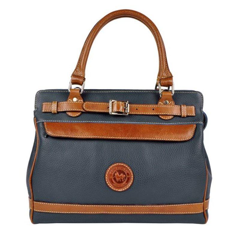 Los Robles Polo Time Floresta - handbag - blue/brandy