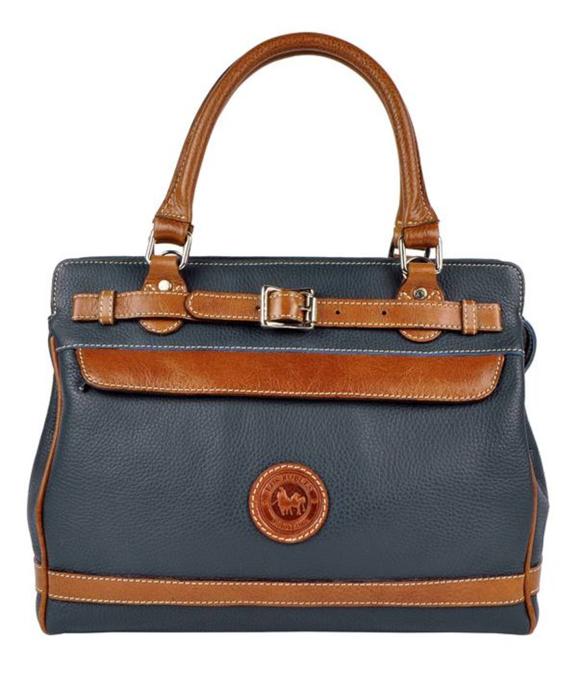 Los Robles Polo Time Floresta - handbag - blue/brandy