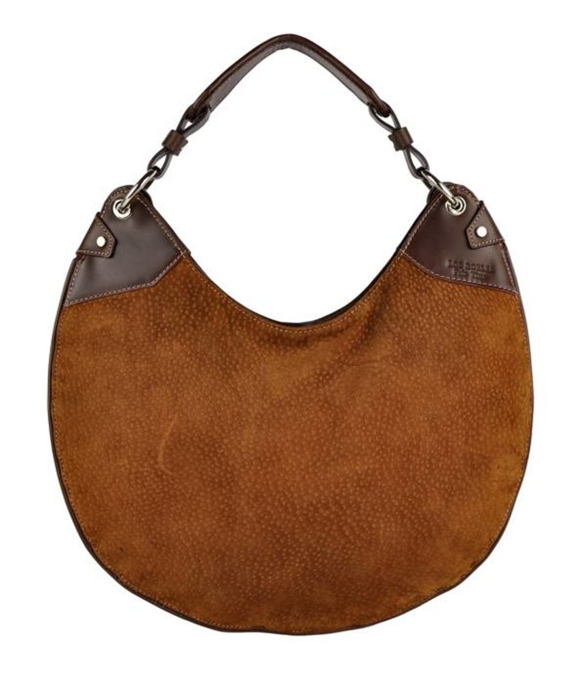 Los Robles Polo Time La Boca - shoulder bag - carpincho - brown