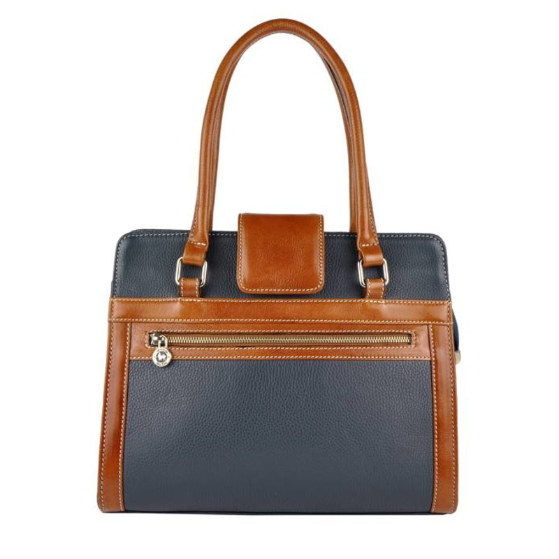 Los Robles Polo Time Cariló - handbag - blue/brandy