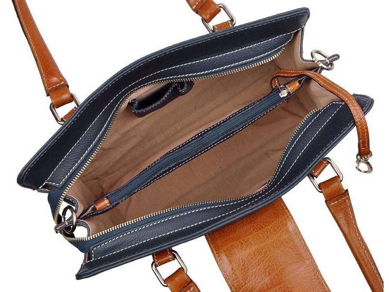 Los Robles Polo Time Cariló - handbag - blue/brandy