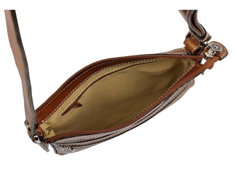 Los Robles Polo Time Caballito - schoudertas - cognac