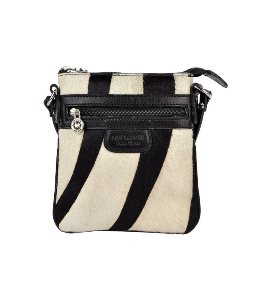 Los Robles Polo Time Santa Rita - crossbody bag - cowskin - black/white