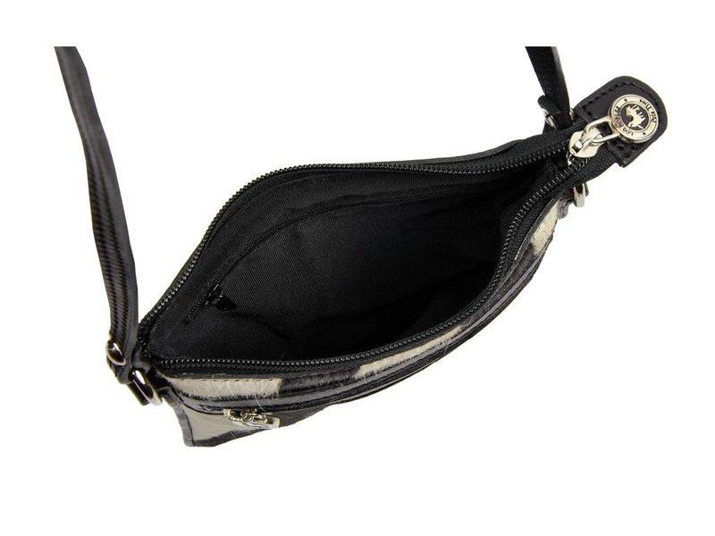 Los Robles Polo Time Santa Rita - crossbody bag - cowskin - black/white