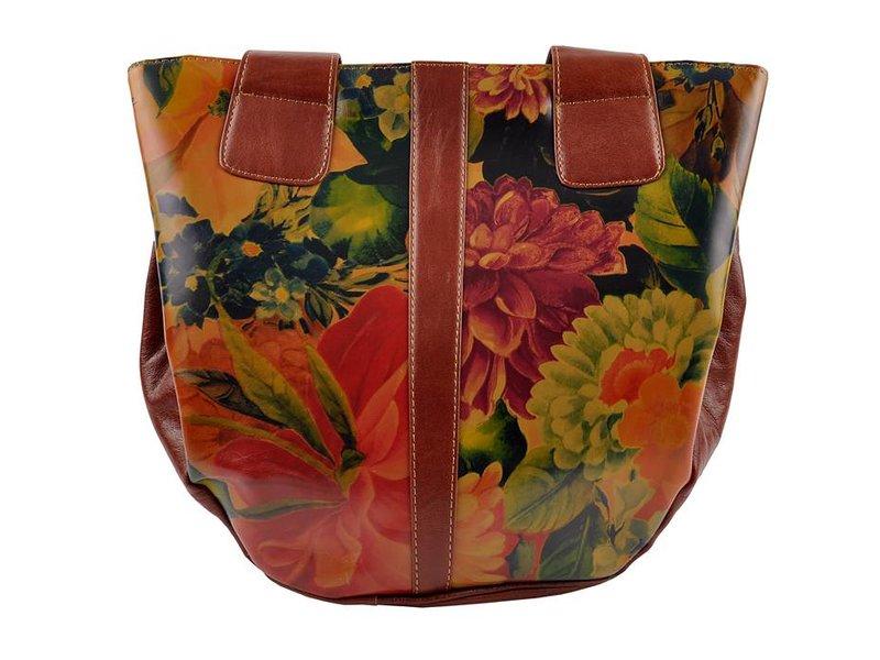 Damare Flor Carmen - schoudertas - bloemenprint