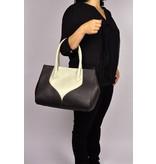 Peter Kent Palermo - handbag - brown/off white