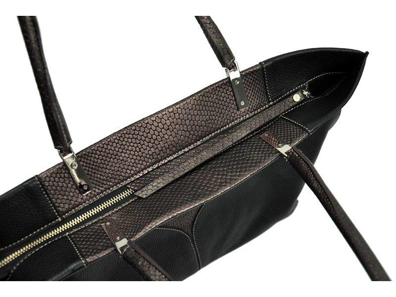Peter Kent Sevilla - tote bag - black/bronze