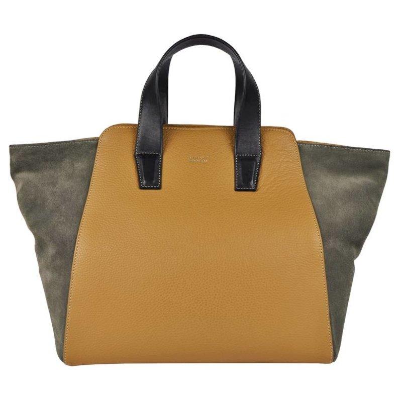 Peter Kent Ginebra - handbag - camel/grey
