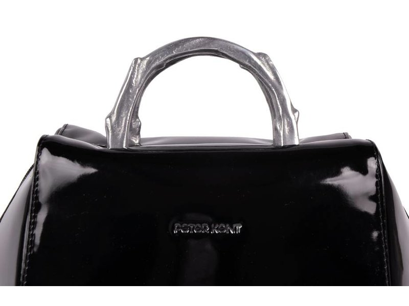 Peter Kent Baulito Amsterdam - handtas - zwart lakleer (charol)