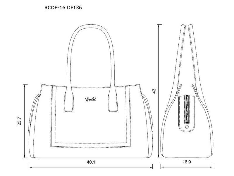 Renzo Costa RCDF-17 DF136M - handbag - taupe
