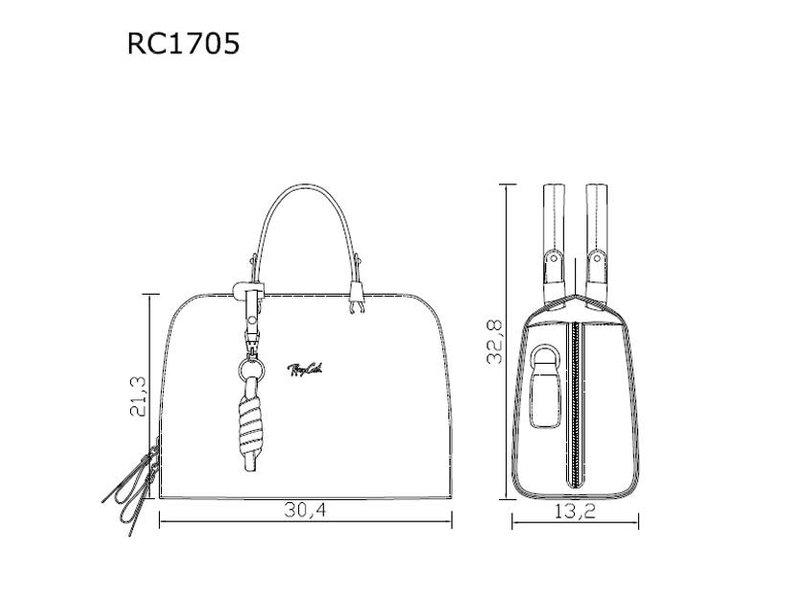 Renzo Costa RC 1705  - handtas - donkerbruin