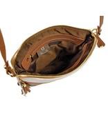Renzo Costa 1701 - crossbody tas - wit bruin zwart