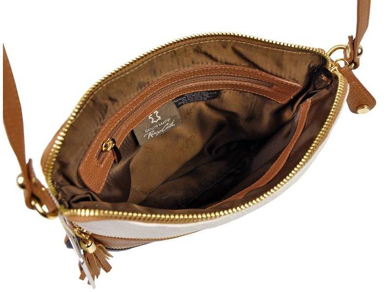 Renzo Costa 1701 - crossbody bag - white bruin black