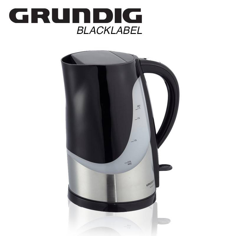 Dagaanbieding - Grundig Waterkoker Premium Blackline | 3000 Watt, 1,7L | dagelijkse koopjes