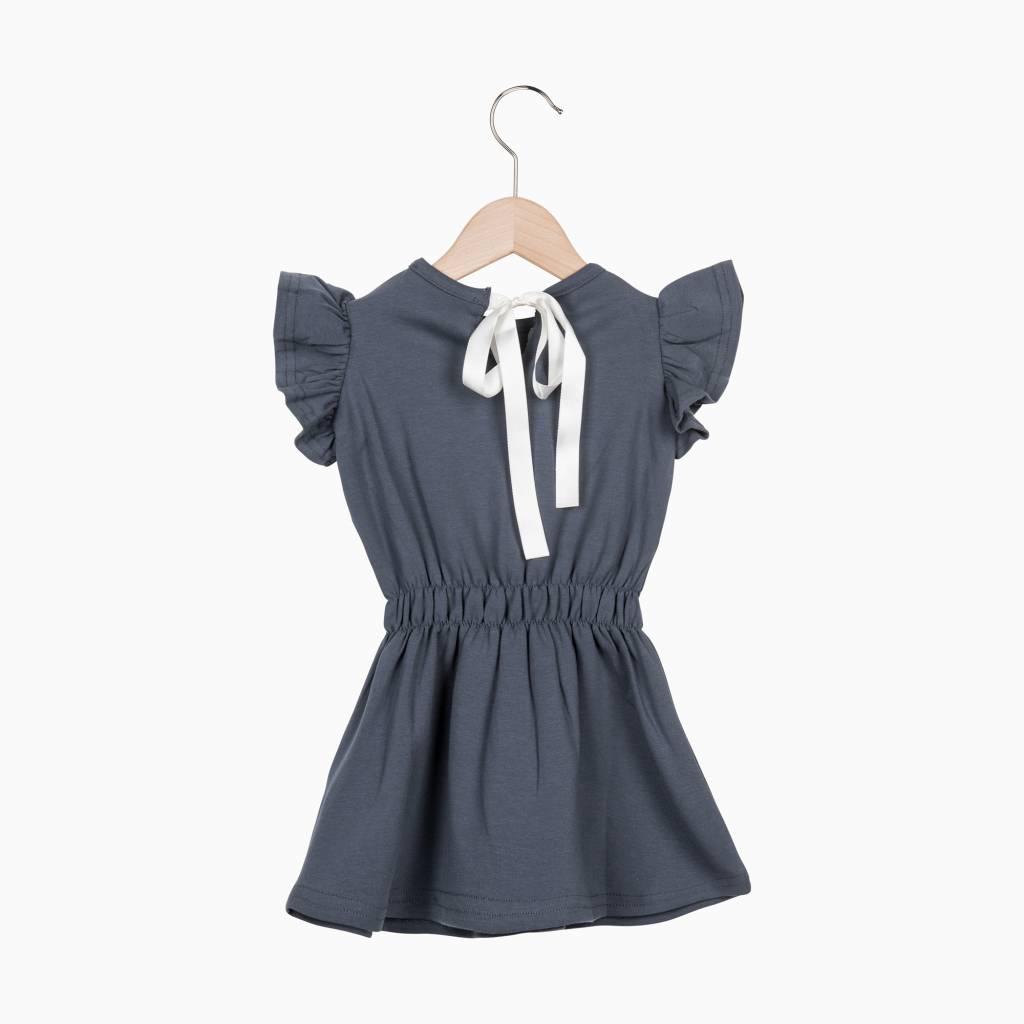 Ruffled Summer Dress - Vintage Grey - House of Jamie Retail Ruffled Sweater House Of Jamie