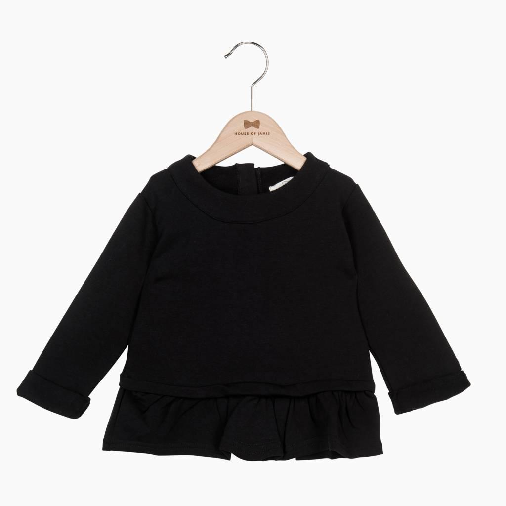 Ruffled Sweater - Black - House of Jamie Retail Ruffled Sweater House Of Jamie