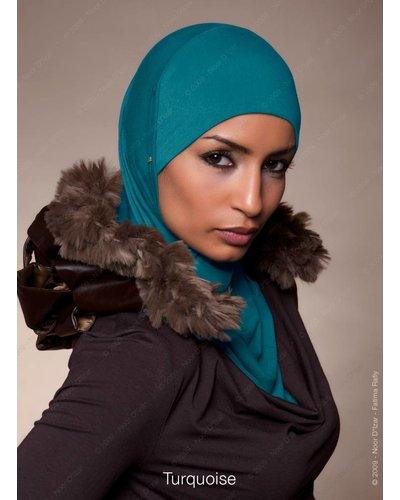 Noor D*Izar Suraya hoofddoek - Turquoise